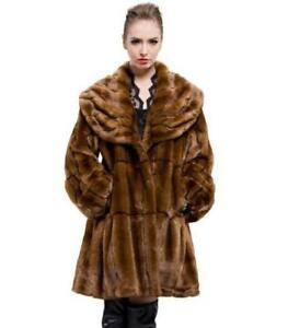 Womens Luxury Loose Long Coat Parka Warm Outwear Overcoat Lapel Fur Winter dfBrfxYqp