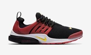 853738f3835d Nike Air Presto Essential Men s Running Shoes Black University Red ...