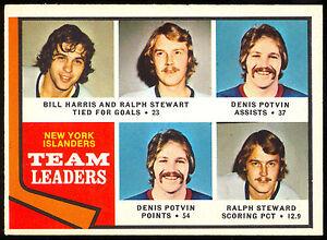 1974-75-OPC-O-PEE-CHEE-233-RALPH-STEWART-DENIS-POTVIN-NM-ISLANDERS-LEADERS