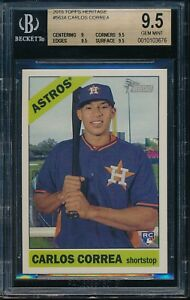2015-Topps-Heritage-Carlos-Correa-RC-Rookie-Card-563-BGS-9-5-Gem-Mint-10103676