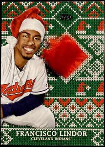 🎅🏻 2019 Francisco Lindor Relic /75 Topps Holiday Santa Cap Hat New York Mets