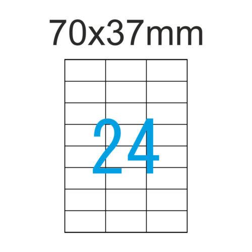 70x37mm Etiketten 200 Blatt A4 4800 Adressaufkleber Luma Vielzweck Weiß 70x37