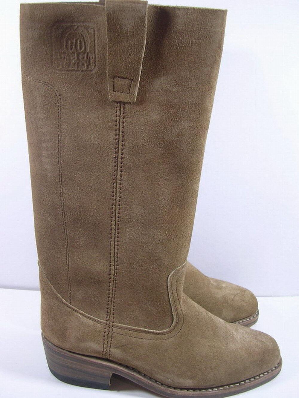 Grandes zapatos con descuento BOTTES GO WEST CUIR TAILLE 39 ANCIENNE VERS 1970/80