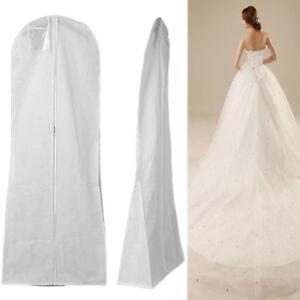 3af859de1865 Details about Ladies Garment Bag Breathable Zip Up Hanging Cover For Suits  Wedding Gown Dress