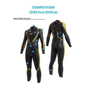 Mens-Men-039-s-SPEEDO-C-15-Competition-Fullsuit-Wetsuit-Wet-Suit-Large-Small-Yellow