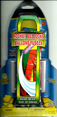 Toy Flys /& Screams Rocket Ballons with Blow Tube Includes 6 Balloons Ages 6