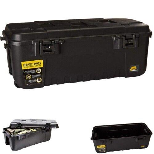 Trunk Box With Wheels Garage Storage Locking Toolbox Pickup Truck Bed Organizer