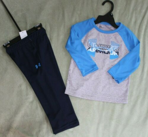 NEW~UNDER ARMOUR  2-PIECE SET BRIGHT BLUE//NAVY SIZE 18 MONTHS
