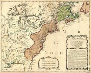 1756 French Indian War Colonial America Antique Map Ebay