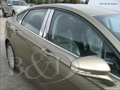FORD FUSION CHROME PILLAR POSTS WITH KEYPAD CUTOUT ON DRIVER SIDE 2013-2015