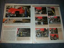How to Article on Installing a Bob's F-100 Parts Four-Bar Setup F100