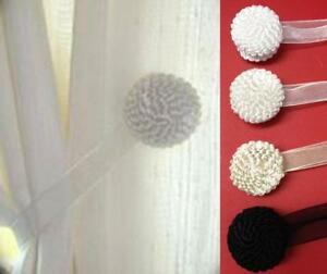 2-MAGNETIC-TIEBACKS-VOILE-amp-NET-CURTAINS-White-Black-Ivory-Cream-FREE-1ST-POST
