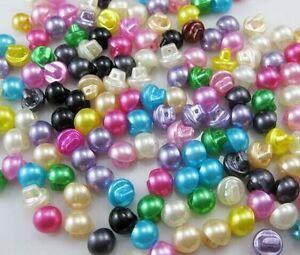10-Bouton-tige-perle-multicolore-10-mm-Scrapbooking-Mercerie-couture-creatif