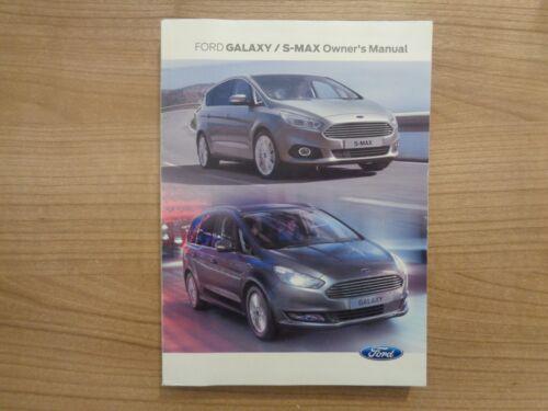Ford Galaxy//S Max Owners Handbook//Manual 15-17