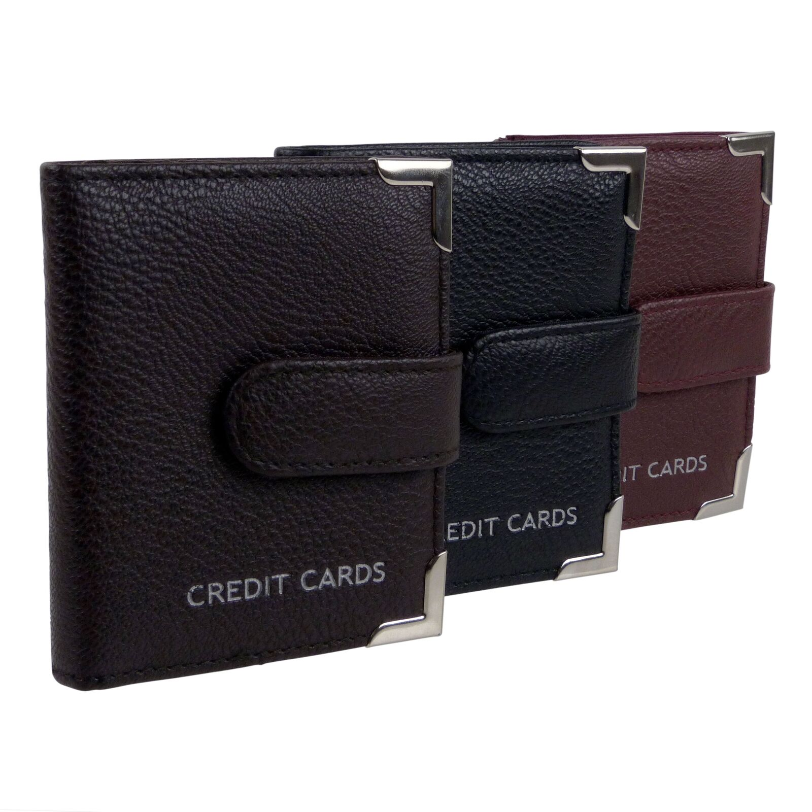 20 Credit Card Case in 3 Colours Faux Leather