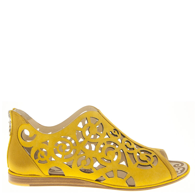 Autentisk Fabi läder Italiensk Designer Flats ny Storleks Storleks Storleks 6,8,9,10 gul Storleks  grossistpris
