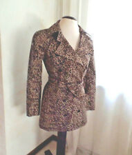 WALTER BY WALTER BAKER ANIMAL PRINT COTTON BLEND TRENCH COAT SZ S EUC/SALE