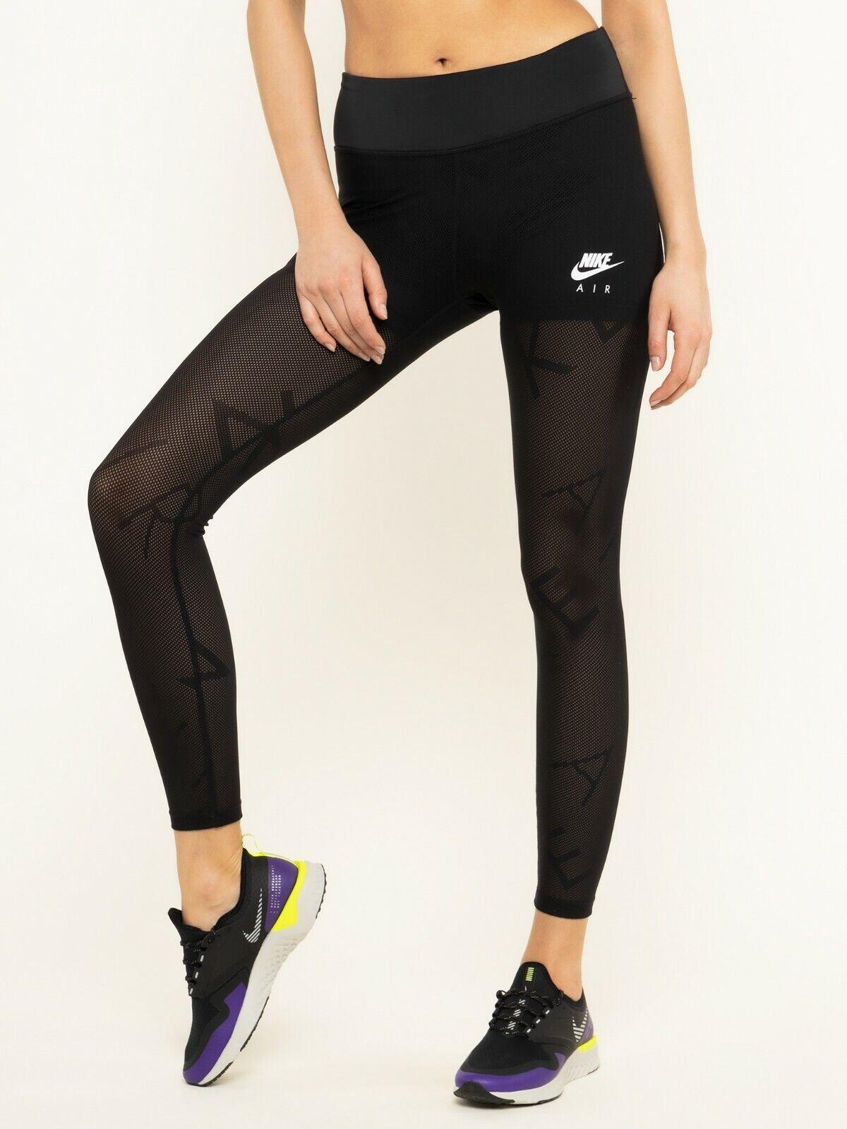 Nike Women's Small Air Black Tight Fit Training Gym 7/8 Length Leggings BV3806