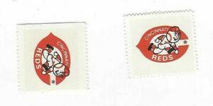 1983-FLEER-BASEBALL-2-STAMPS-CINCINNATI-REDS