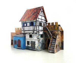 Details about House near the Wall Building War Games Terrain Landscape  Cardboard Model Kit