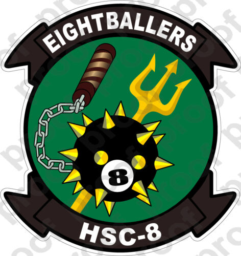 STICKER USN HSC  8 EIGHTBALLERS