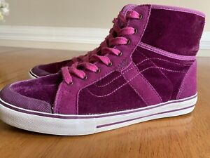 6923bc3ec6 Image is loading Vans-Wellesley-Skate-Skateboard-Sneakers-Pink-Purple-Velvet -