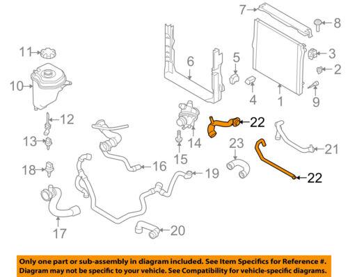 BMW OEM 2010 X5 3.0L-L6 Radiator-Heater Hose 11537609944