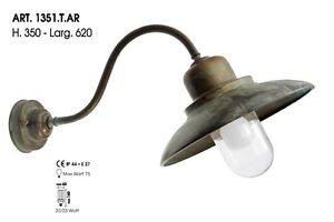 Moretti luce t ar lampada da esterno ottone antichizzato ebay