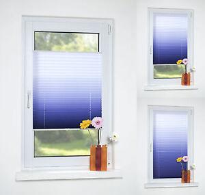 klemmfix plissee faltrollo faltstore ohne bohren t r rollo blau wei jalousie ebay. Black Bedroom Furniture Sets. Home Design Ideas