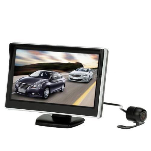"""hd camera I1U9 5/"""" tft lcd display monitor car rear view backup reverse system"""