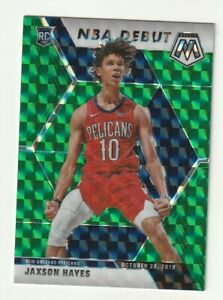 2019-20-Panini-Mosaic-Prizm-Green-Rookie-RC-Jaxson-Hayes-NBA-Debut-SP-267