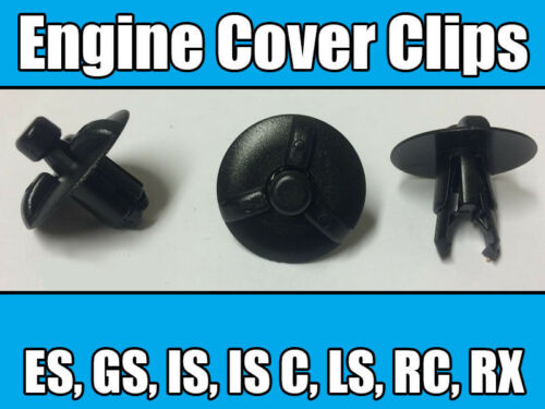 10x Clips For Lexus Engine Cover Plastic Trim Fasteners Motor Shield Panel New