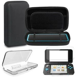 For-Nintendo-2DS-XL-LL-Travel-Carry-Bag-Crystal-Cover-Screen-Protector-DO