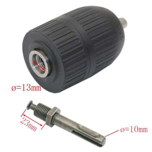 """Nikou Drill Chuck-1//2-20UNF 2-13mm Keyless Drill Chuck with 1//2"""" Chuck Adaptor for Impact Wrench Conversion"""