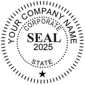Image Is Loading Corporate Seal Custom Self Inking Round
