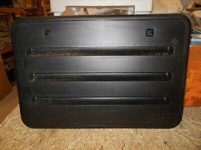 *NORCOLD 620505BK SIDE VENT DOOR ASSEMBLY PLASTIC RADIUS CORNER BLACK FREE SHIP
