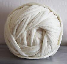Giant yarn, Super chunky 100% merino wool, cream, extreme, arm knitting,1kg