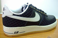 ORIGINAL MENS NIKE AIR FORCE 1 LOW ONE AF 1 BLACK SPORTS CASUAL RETRO TRAINERS