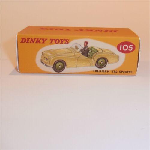Dinky Toys 105 Triumph TR2 Cream Empty Reproduction Box