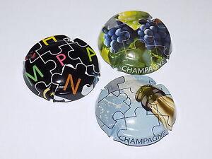 Série de  10  capsules de champagne Générique puzzle mot champagne