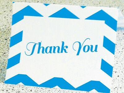25 - 50 or 100  Thank You Note Cards (Blank Envelopes Included)