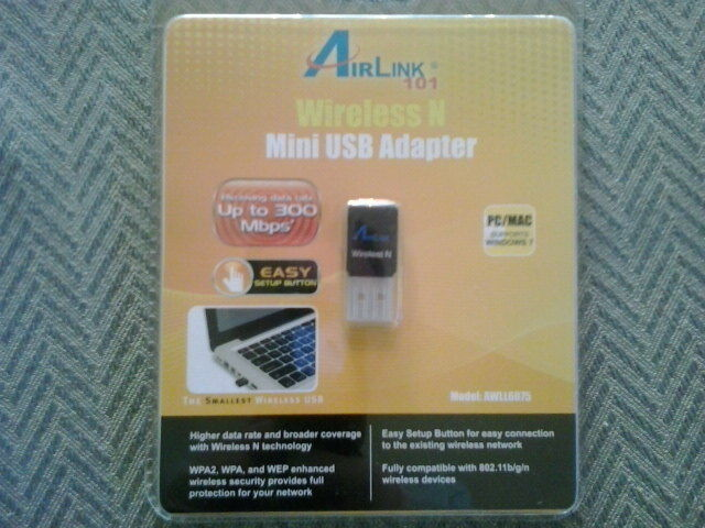 Airlink101 Wireless N USB Adapter Windows