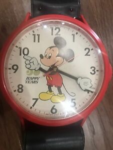 Giant Vintage 50 Happy Years Mickey Mouse Wrist Watch Wall