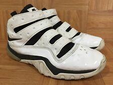 RARE�� Nike Zoom Sharkley White Patent Leather Black Sz 13 318397-103 NBA PE