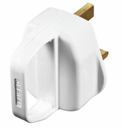 Masterplug PT13HW Enchufe 13amp con Mango Fusible 13amp-Blanco