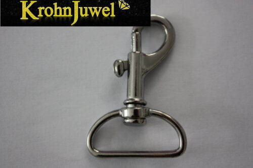 1-4-10 Mousqueton Nickel 25 mm coulissants Premium-Mousqueton vertébrale Mousqueton