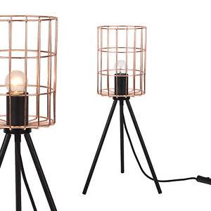 lux-pro-Lampe-de-table-design-Metal-Noir-Look-industriel