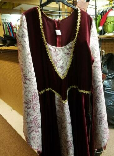 medieval dress red