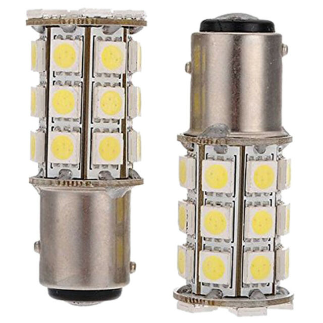 2 x 1157-T25 BAY15D P21 / 5W 27 SMD5050 12V LED Brake Light White Light F7Z3