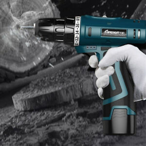 12V-Li-Ion-2-Speed-LED-Light-Cordless-Electric-Hammer-Drill-Driver-Hand-Charger